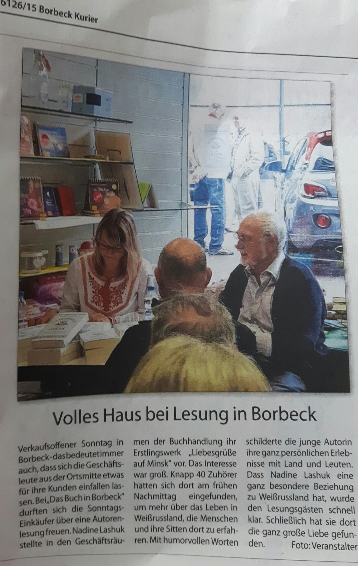 Artikel Borbeck Kurier
